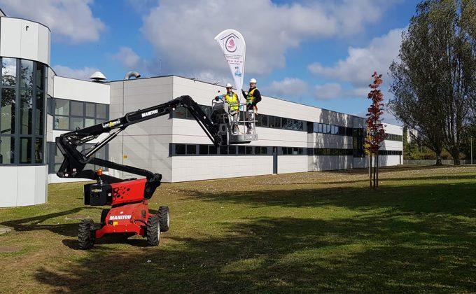 Nettoyage et ravalement de façade bâtiment industriel Cofapi