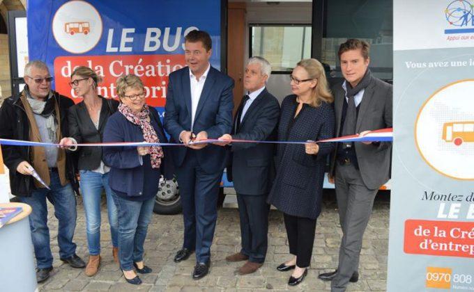 Photo de l'inauguration du Bus BGE