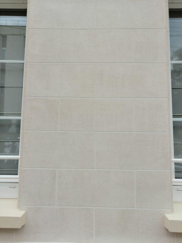 Ravalement aspect pierre de travertin Clermont 60600 Cofapi