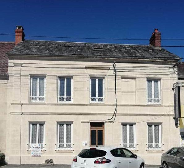 Cofapi Clermont Oise ravalement aspect pierre de travertin (2)