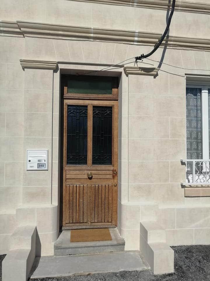 Cofapi Clermont Oise ravalement aspect pierre de travertin (3)