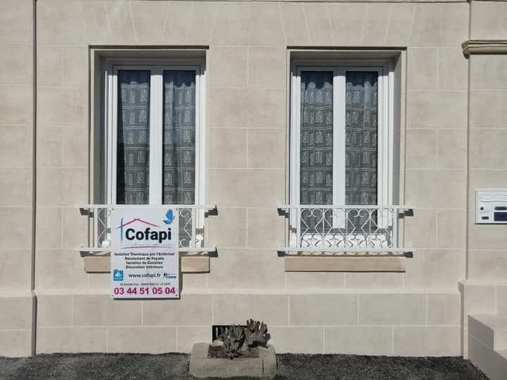 Cofapi Clermont Oise ravalement aspect pierre de travertin (6)