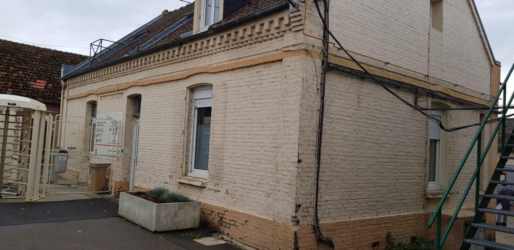 Cofapi Paillart avant la réfection du parement en briques