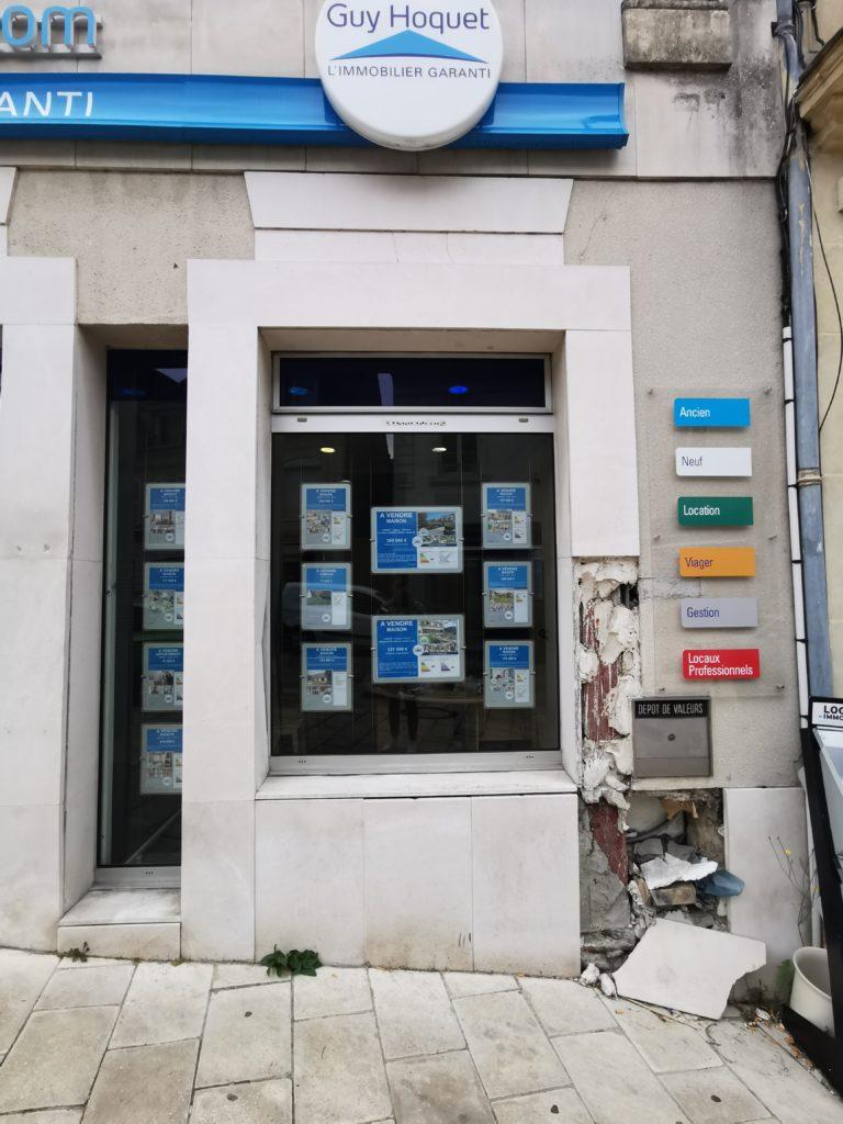 Cofapi etat de l'Agence Guy Hoquet de Clermont de l'oise avant ravalement (3)